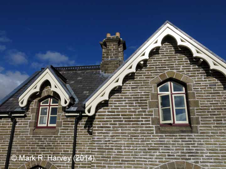 Ribblehead Station Master's House: south-west gable / roof detail