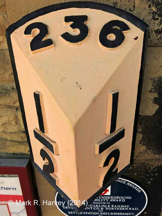 Milepost 236½: Top-face view""