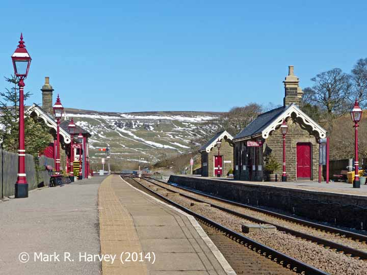Garsdale Railway Station from the southwest end of the 'Down' platform