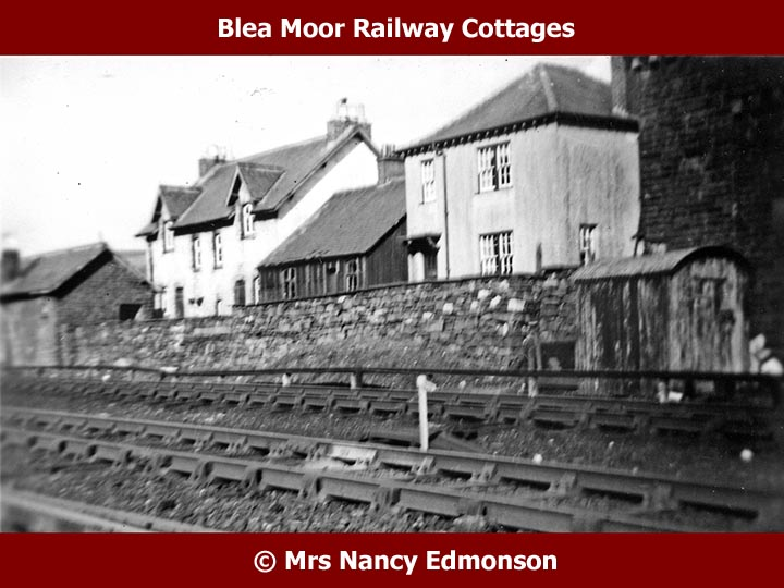 Blea Moor Railway Workers' Cottages and lamp hut: Context view from southwest