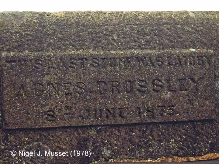 Bridge SAC/193 - Smardale Viaduct:  Agnes Crossley Commemoration Stone