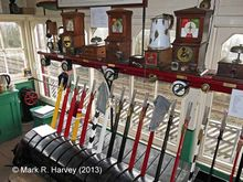 Photo: A typical Midland Railway Company lever frame and block instruments.