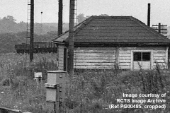 Unidentified building beside Hellifield S. Jn, from the northwest circa 1970-72.