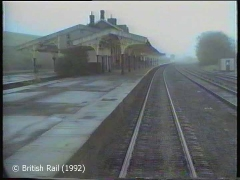 Hellifield Railway Station: Cab-view, northbound (rearwards).