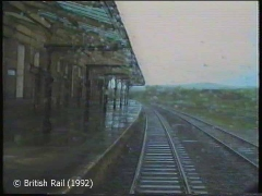 Hellifield Railway Station: Cab-view, southbound (rearwards).