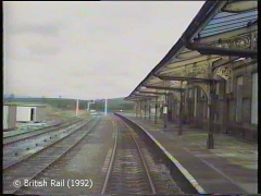 Hellifield Railway Station: Cab-view, northbound (forwards).