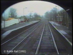 Long Preston Railway Station: Cab-view, northbound (rearwards) 1.