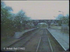 Long Preston Railway Station: Cab-view, southbound (rearwards).