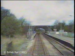 Long Preston Railway Station: Cab-view, northbound (forwards).