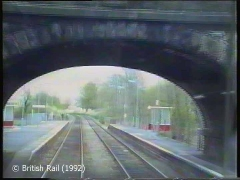 Long Preston Railway Station: Cab-view, southbound (forwards) 2.
