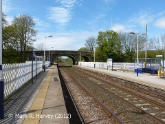 Long Preston Station, context view from the south-east.