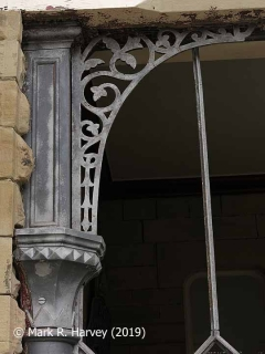 Glazed screen during restoration: 05 - Column capital, extension & angle bracket.
