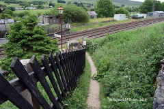 242490: Horton-in-Ribblesdale Station - Barrow Crossing & PROW (footpath): Context view from the West