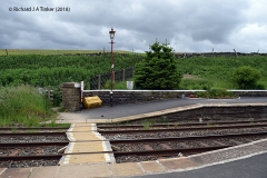 242490: Horton-in-Ribblesdale Station - Barrow Crossing & PROW (footpath): Elevation view from the East