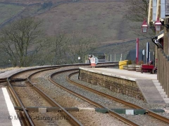 Ribblehead Station - Passenger Platform (Up): Elevation view from the south-east
