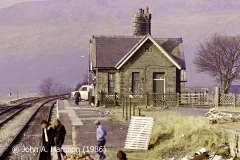 Ribblehead 'up' platform and booking office, viewed from the east-southeast.