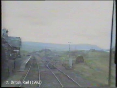Ribblehead Station: Cab-view, southbound (forwards).