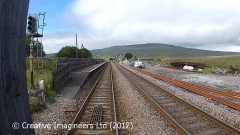 Ribblehead Station: Cab-view, northbound looking straight ahead (1).