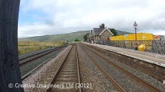 Ribblehead Station: Cab-view, northbound looking straight ahead (2).