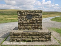 Ribblehead Viaduct Memorial Cairn: southwest elevation.