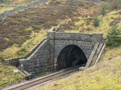 250780: Blea Moor Tunnel North Portal (Bridge No 072): Elevation view from the North West