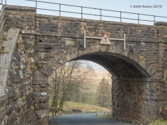 251100: Bridge SAC/76 - Greenbanks (PROW - minor road): Detail view from the South East