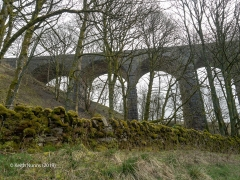 251230: Bridge SAC/77 - Dent Head Viaduct (stream): Context view from the North West
