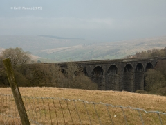 251230: Bridge SAC/77 - Dent Head Viaduct (stream): Context view from the South East