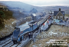 Context view of Dent Station (looking SSE) with A4 No. 4498 'Sir Nigel Gresley'.
