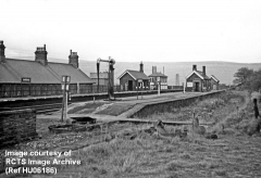 Garsdale Station in the 1960s (shortly after Hawes Branch track lifted), from SW.