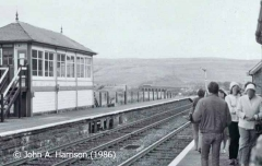 Garsdale Signal Box and Moorcock Viaduct, viewed from the 'down' platform.