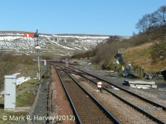 Garsdale North Sidings and trackbed of former Hawes Branch, from the SW.