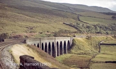 Dandrymire Viaduct and Garsdale North 'Up' Sidings: context view from the north.