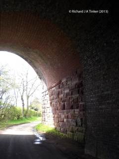 274520: Bridge SAC/227 - Mill Lane (PROW - minor road): Detail view from the South