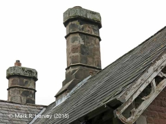 Ormside Station Booking Office: Chimneys viewed from the northwest.