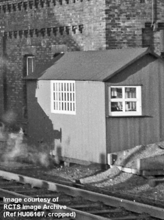 Appleby Station: Wooden building beside the original tank house, from southeast.