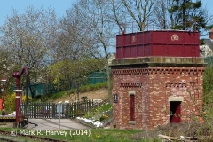 Appleby Station Tank House and 'Up' Water Crane from the south.