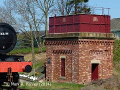 Appleby Station Tank House (modern), elevation view from the south.