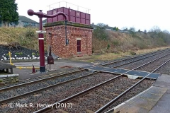 Appleby Station Barrow Crossing, Tank House and 'Up' Water Crane from the south.