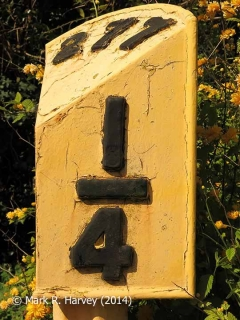 Milepost 277¼, 'Down' face.