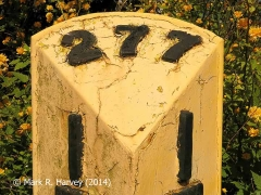 Milepost 277¼, Top face.
