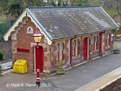Appleby Station Waiting Room (Up), elevation view from the west-northwest.
