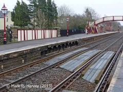 Appleby Station 'Up' platform and Bridge SAC/237, context view from the northwest.