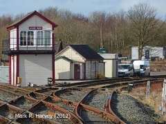 Appleby North Signal Box, Joiners' Shop and Sidings (former link to NER), from SE.