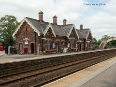 277270: Appleby Station - Station Main Building & Booking Office (Down): Elevation view from the South East
