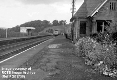 Culgaith Station looking WNW, with platforms, waiting shelter & booking office.