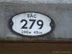 Bridge SAC/279 East side Bridge plate