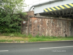 288330: Bridge SAC/288 - Alston Road / A686 (PROW - road): Elevation view from the South