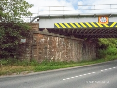288330: Bridge SAC/288 - Alston Road / A686 (PROW - road): Detail view from the South
