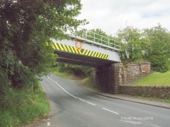 288330: Bridge SAC/288 - Alston Road / A686 (PROW - road): Elevation view from the West